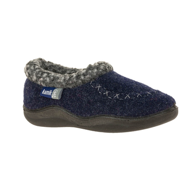 Kamik Boys' CozyCabin2 Slipper navy side view