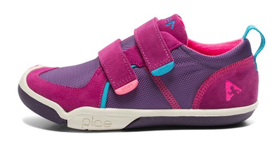 Plae Ty Girls Sneaker in Pink Purple in Side View