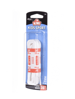 Kiwi Kids Sport Oval Laces - White 36 inch