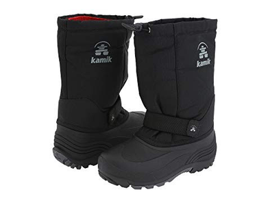 Kamik Rocket Waterproof Insulated Winter Snow Boot black side/back view