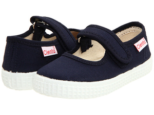 CIENTA CANVAS MARY JANE SNEAKER navy side/back view