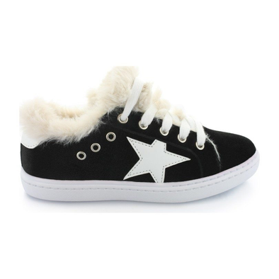 Hoo Ava's Fur Star Lace Velvet Sneaker (Little Kid/Big Kid)