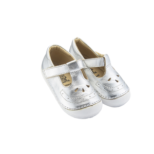 Old Soles Royal Pave (Toddler) Silver side front view