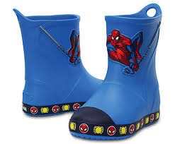 Crocs Bump It Spiderman Rainboot (Toddler)