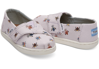 Toms Classic Lavender Bugs (Toddler/Little Kid)
