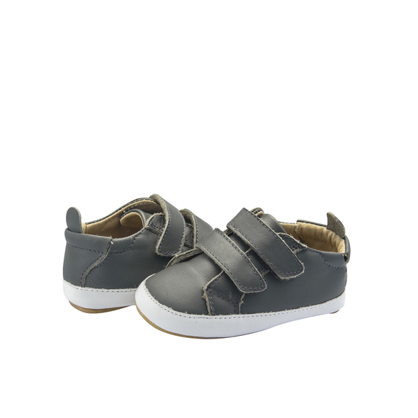 Old Soles Bambini Market Double Strap Shoe (Infant/Toddler) Grey front side view
