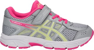Asics Pre Contend 4 Grey/pink side view