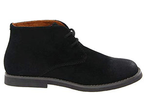 Florsheim Quinlan JR Suede Black in Side View of Right Shoe