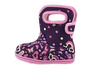 Bogs Girls' Baby Bogs Rainbow Waterproof Boots w/ Handles  (Toddler)