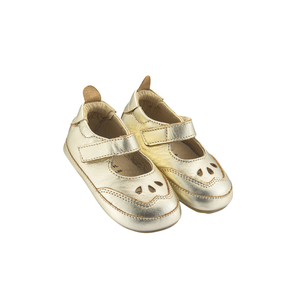 Old Soles College Baby Mary Jane (Infant/Toddler) Gold side front side