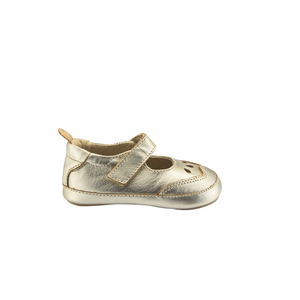 Old Soles College Baby Mary Jane (Infant/Toddler) Gold side view