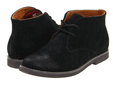 Florsheim Quinlan JR Suede Black side view/ back view
