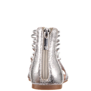 Nina Kids Karlee (Little Kid/Big Kid) Silver Metallic back view