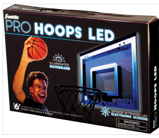 Franklin Sports Over The Door Mini LED Scoring Basketball Hoop