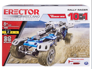 ERECTOR BY MECCANO, RALLY RACER 10-IN-1 BUILDING KIT