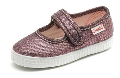CIENTA GLITTER MARY JANE SNEAKER Rose Metallic side view