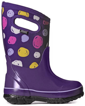 Bogs Classic Sketched Dots Kids' Insulated Boots Purple Multi Side View