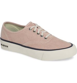 SeaVees Kids Legend Sneaker Cordies in Rose Dust in Side View