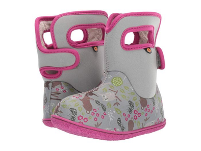 Bogs Girls' Baby Bogs Woodland Waterproof Boots w/ Handles  (Toddler)