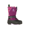 Kamik Girls' SnowcoastP Winter Snow Boots grape/lavender side view