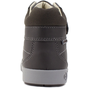 Boys' Pediped Flex High Top Logan Sneaker brown back view