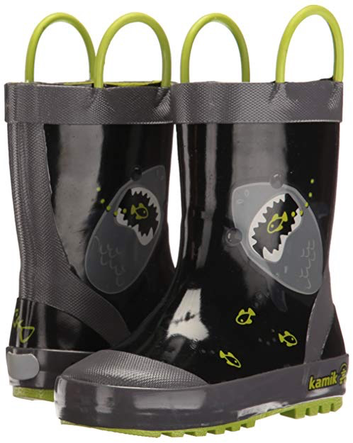 Kamik Chomp Rainboots black side/back view