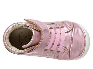 Old Soles Pave Cheer Leather Bootie (Toddler) Pink top view