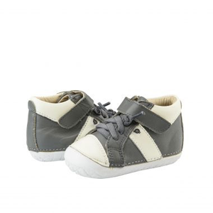 Old Soles Earth Pave Grey/White (Toddler) Grey/White front side view