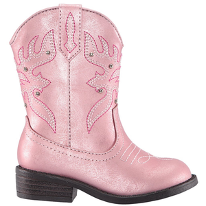 Nina Mirabela Boot (Toddler/ Little Kid) LT Pink Metallic side view