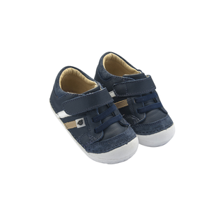 Old Soles Pave Denzle (Toddler) Navy side front view