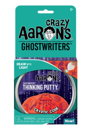 "Crazy Aaron's Cryptic Code Putty 4"" Tin with Glow Charger (Ghostwriters)"