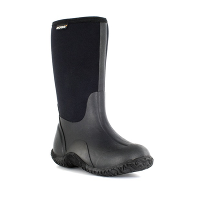 Bogs Classic No Handles Waterproof Insulated Boots Black Front Side View