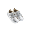 Old Soles Bambini Glam Sneaker (Infant/Toddler) Silver side front view