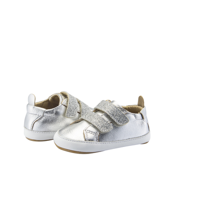Old Soles Bambini Glam Sneaker (Infant/Toddler) Silver front side view