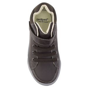 Boys' Pediped Flex High Top Logan Sneaker brown top view