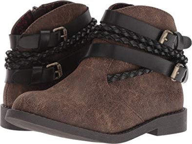 Blowfish Girls' Kia-K Short Boot Chocolate Side View