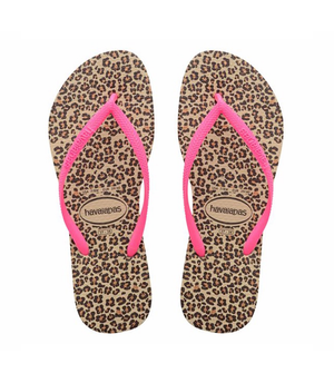 Havaianas Slim Animal Print Sandal (Little Kid/Big Kid)