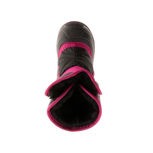 Kamik Snowbug 3 Insulated Winter Boots black/rose top view