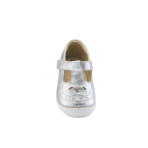 Old Soles Royal Pave (Toddler) Silver front top view