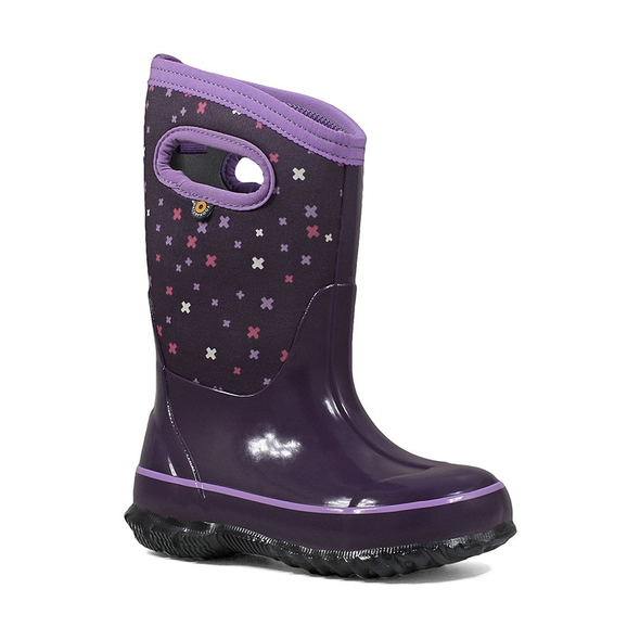 Bogs Classic Plue Kids' Insulated Boots Eggplant Front View