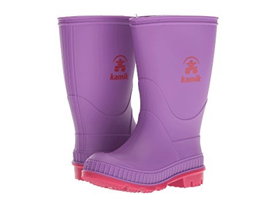 Kamik Stomp Rainboot purple side/back view