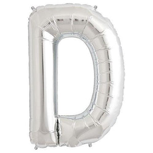 "Northstar 34"" Letter D Balloon- Silver"