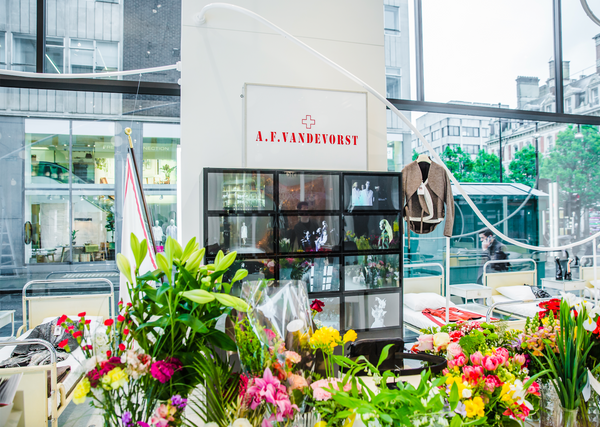 A.F.Vandevorst took over The Cornor Shop of Antwerp Designer Duo A.F.Vandevorst