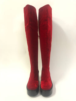 Over the knee velvet boots AW2016