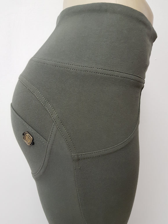 Peaches Special Edition Olive High waist shaping pants (FS) - Merchant Hunter