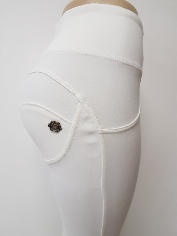 Special Edition White High waist shaping pants (clearance) - Merchant Hunter