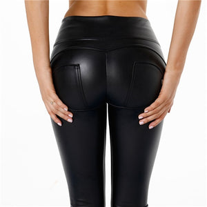 Peaches Special Edition Leather Pants High waist (Specials) - Merchant Hunter