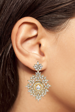 Anahita Indian Designer Statement Earrings by Jaipur Rose Designer Indian Jewellery