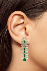 Ava Waterfall Drop Statement Earrings
