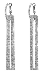 Fraya Drop Earrings White Gold by Jaipur Rose Luxury Designer Indian Jewelry